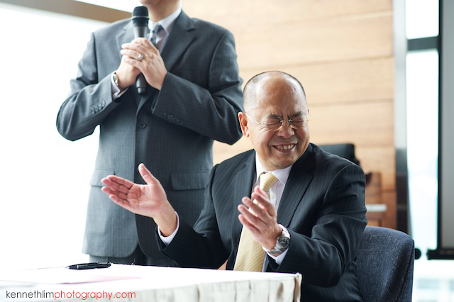Hong Kong Wooloomooloo Prime wedding father of groom laughing