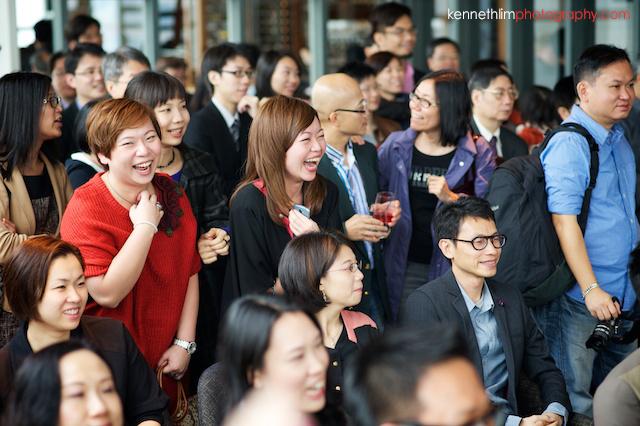 Hong Kong Wooloomooloo Prime wedding guests laughing