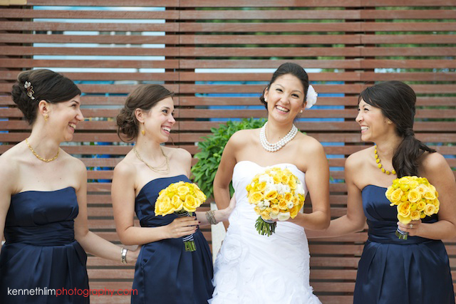 Hong Kong Country Club wedding bride and bridesmaids laughing