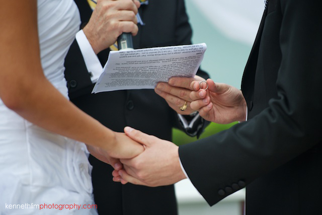 Hong Kong Country Club wedding bride groom ring exchange