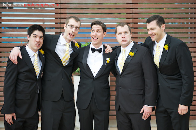 Hong Kong Country Club wedding groom and groomsmen laughing