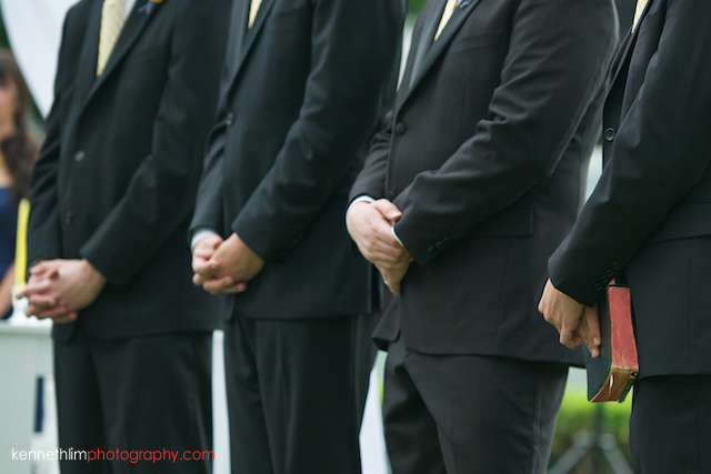 Hong Kong Country Club wedding groomsmen hands detail