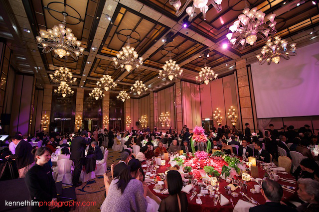 Hong Kong wedding Four Seasons banquet room atmosphere