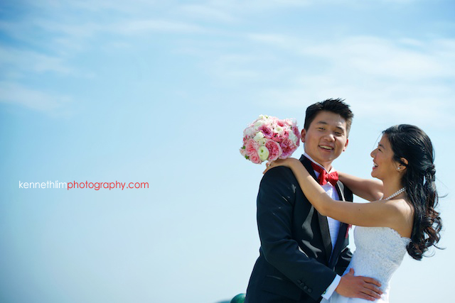 Hong Kong wedding bride and groom portrait in Shek O