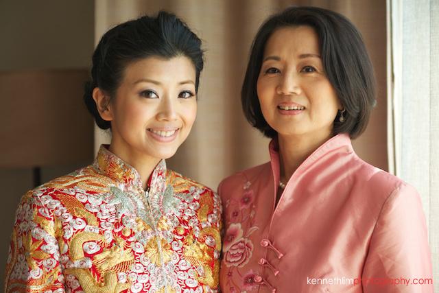 Koh Samui wedding Shasa Resort morning preparations bride and mother portrait