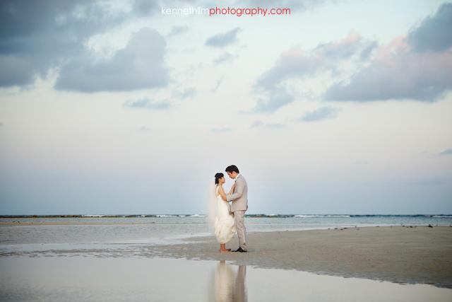 Koh Samui wedding YL Residence bride and groom portrait on beach