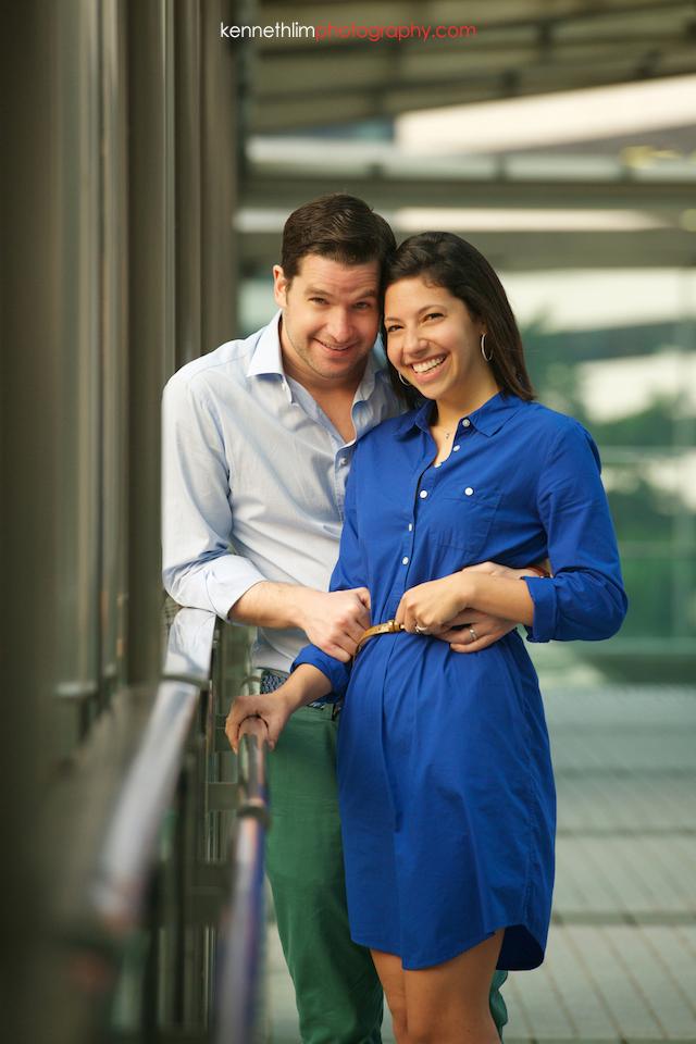 Hong Kong engagement photoshoot outdoors couple smiling