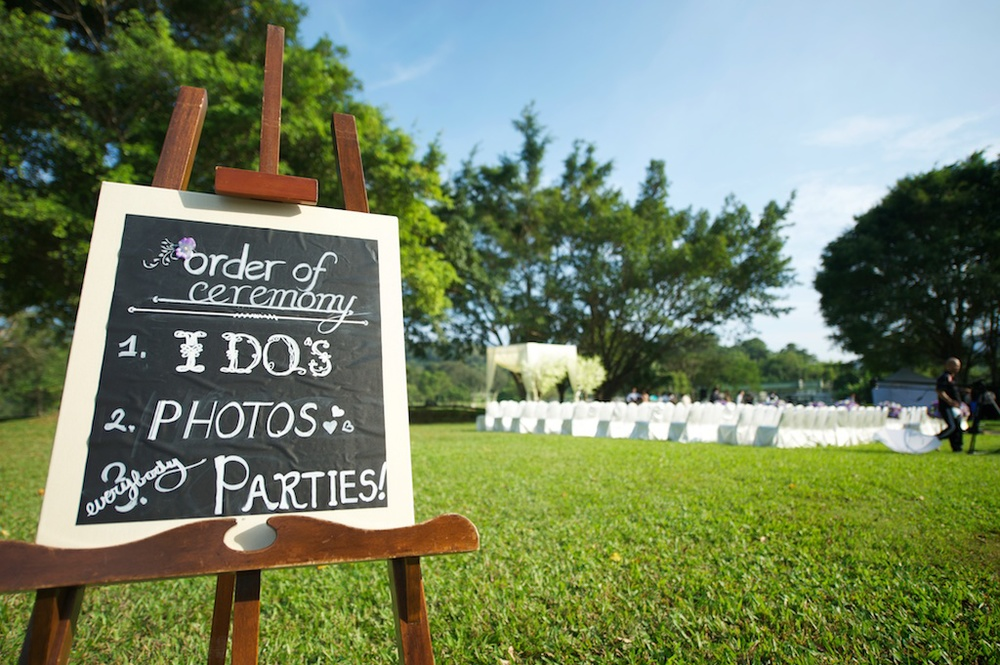 Hong Kong Beas River Country Club wedding photography grass lawn with ceremony