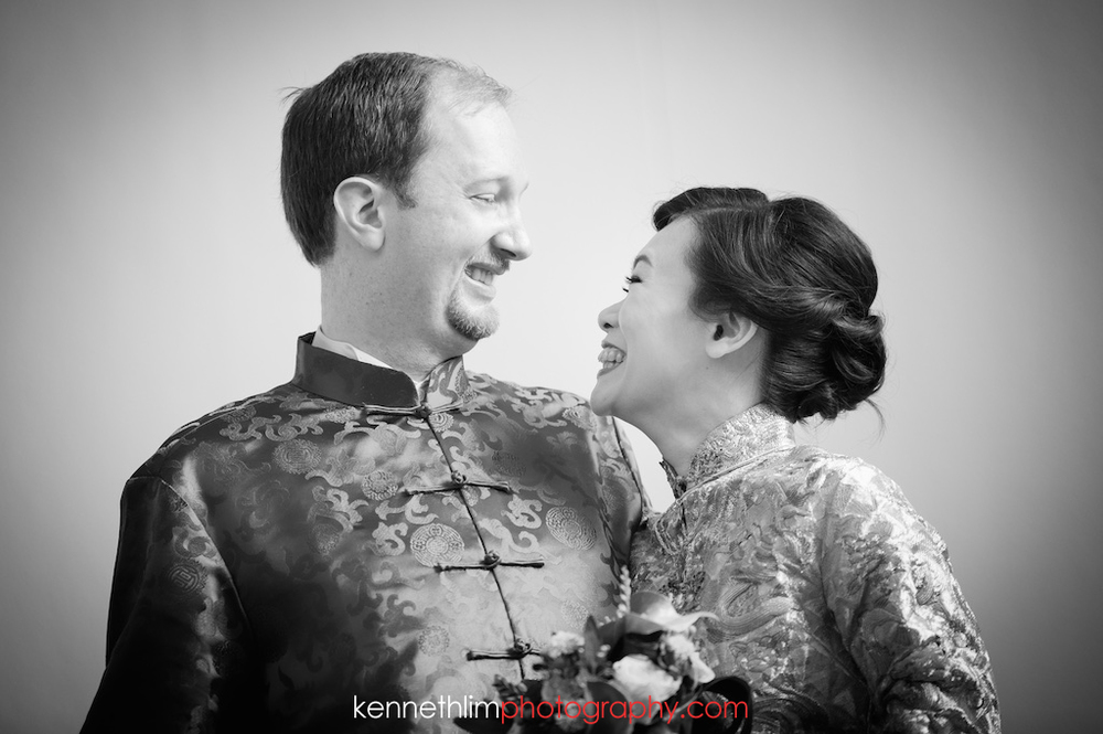 Hong Kong Club wedding day photography big day wedding portraits groom and bride laughing together