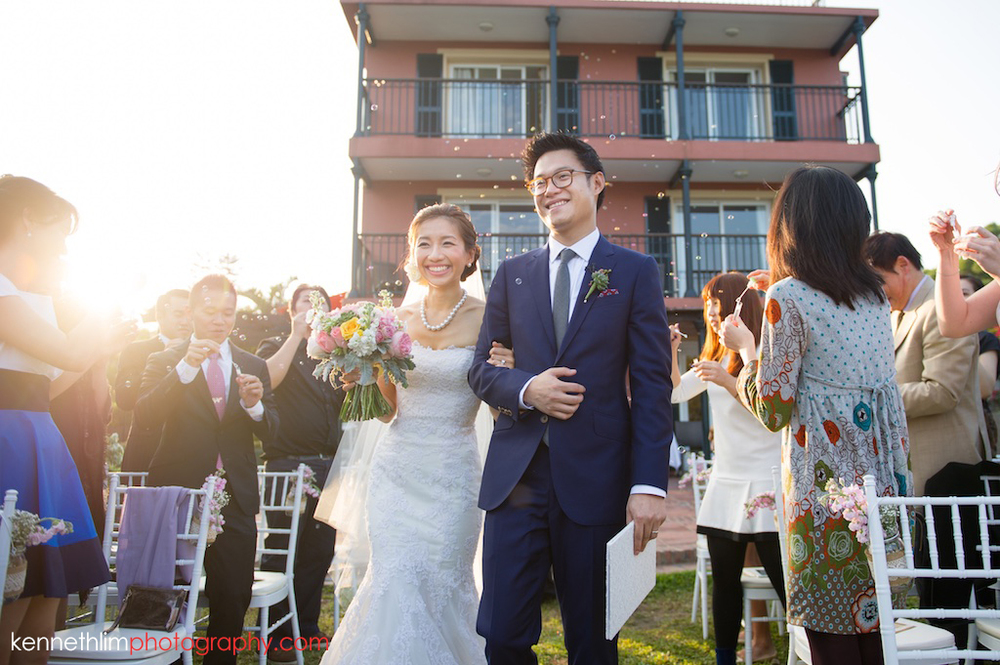 Hong Kong Wedding photography one thirty one ceremony bride groom march in newly weds