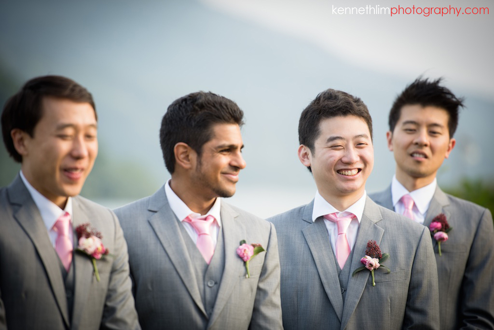 Hong Kong Wedding photography one thirty one groomsmen laughing during ceremony