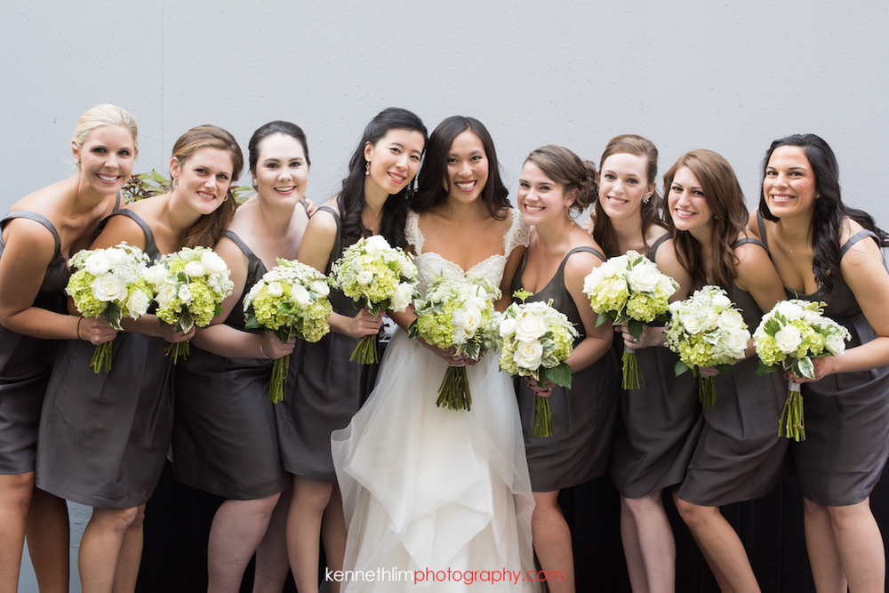 Atlanta wedding W Atlanta Hotel big day photography bride and bridesmaids portrait session