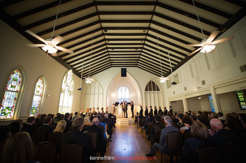 Atlanta wedding Kairos Church big day photography wedding ceremony bride groom exchange vows