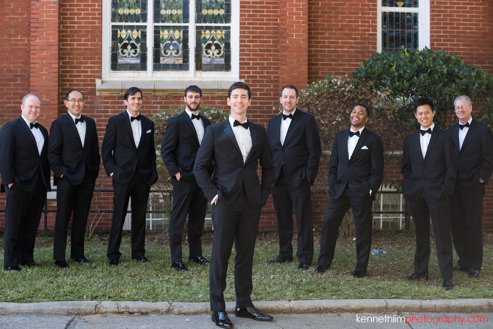 Atlanta wedding Kairos Church big day photography groom and groomsmen portrait session