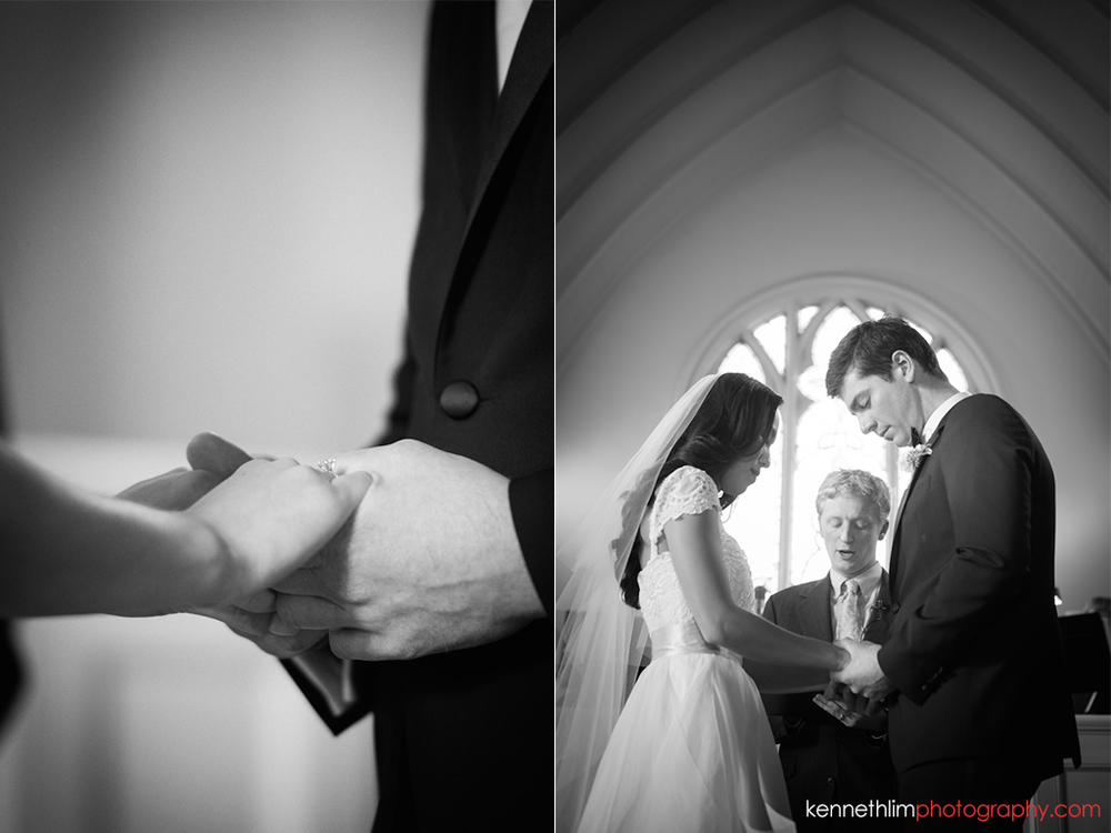 Atlanta wedding Kairos Church big day photography bride groom holding hands exchanging rings