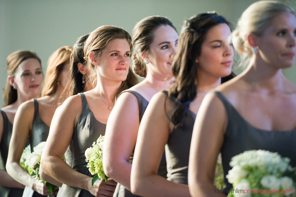 Atlanta wedding Kairos Church big day photography bridesmaid during ceremony