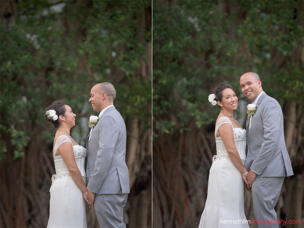 Hong Kong Island Shangri-la Atrium Library wedding day photography bride and groom portrait session outdoor holding hands smiling