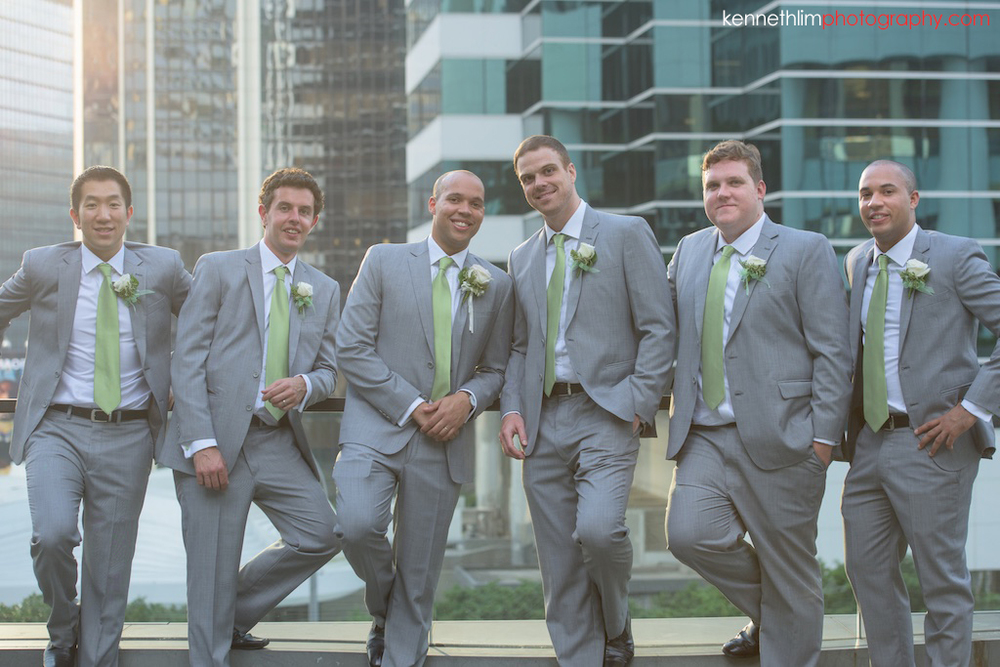 Hong Kong Island Shangri-la Atrium Library wedding day photography groom and groomsmen portrait session