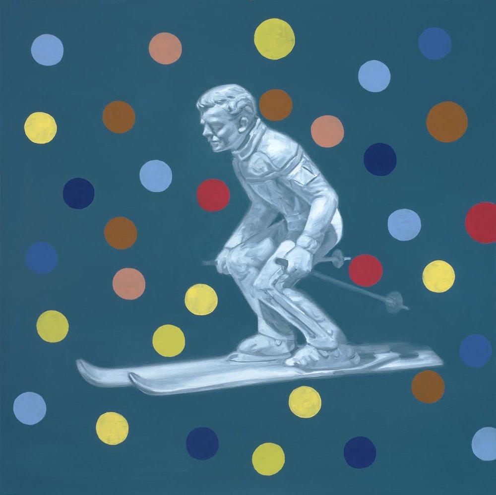 brad overton skier with polkadots
