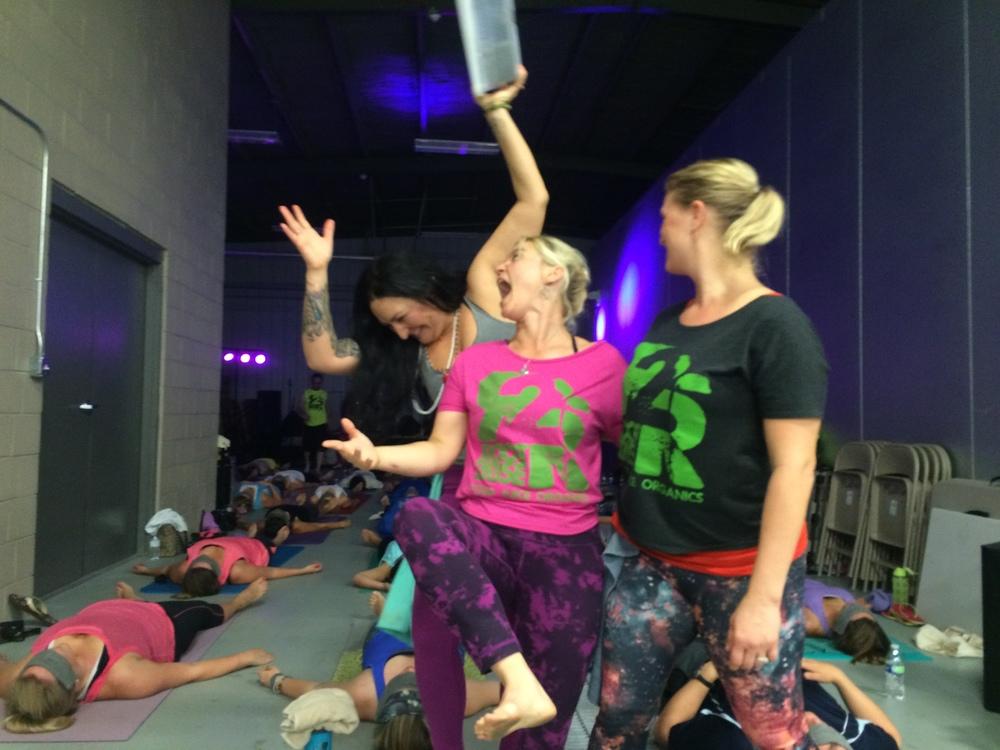 Hot yoga, cold beer event at Mudbug!