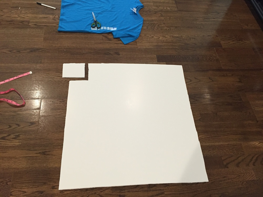 "For the App Store cut outs use a foam board to cut out desired ""app"" size."