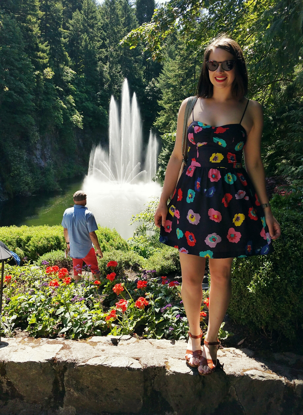 floral-dress-butchart-gardens