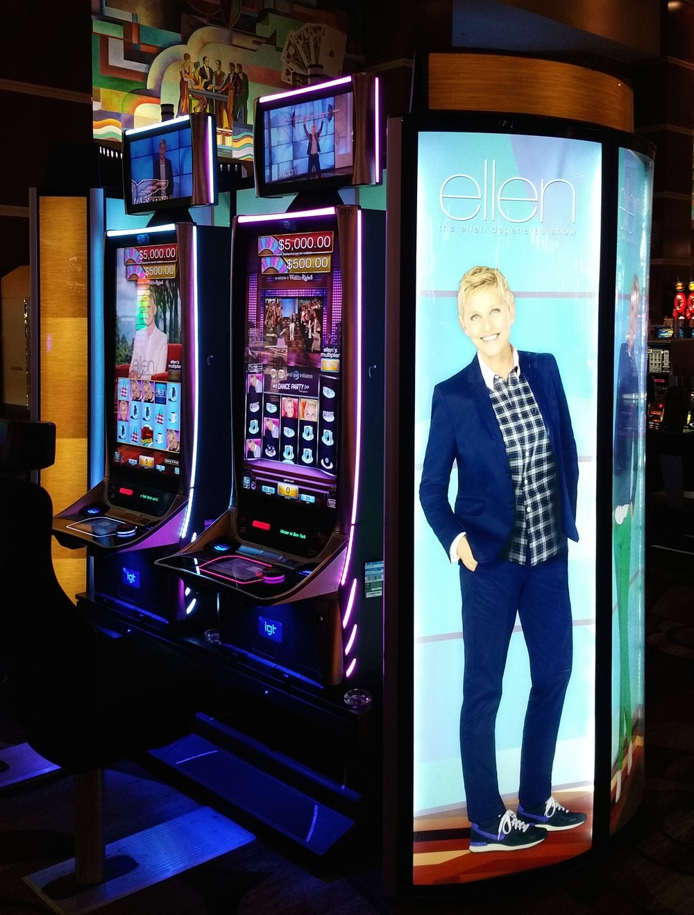 Ellen has her own slot machine...?
