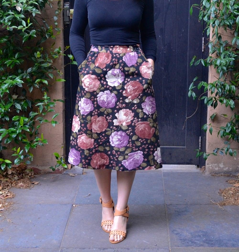 floral-skirt-summer-heels-black-door