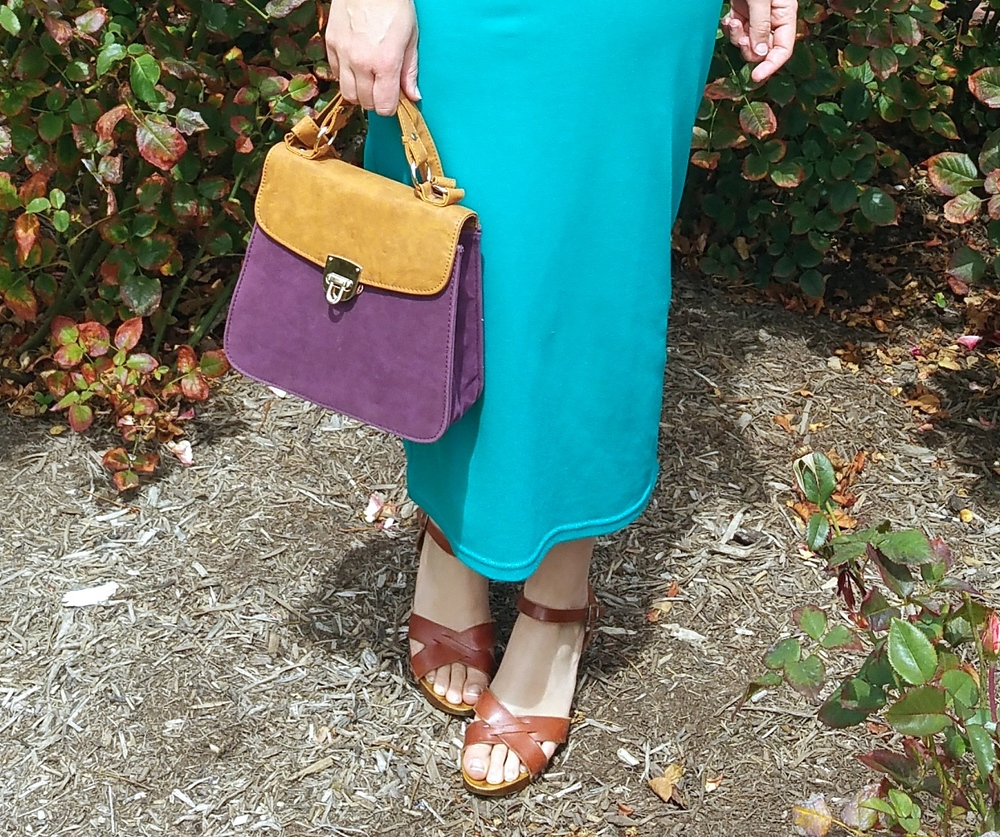 purple-bag-teal-skirt-asos-clogs