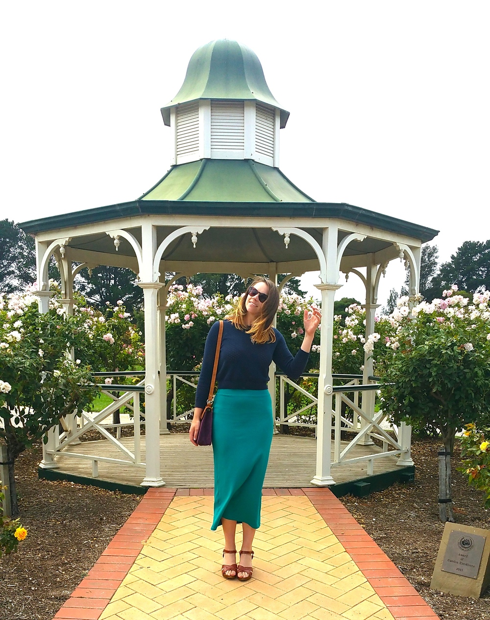 werribee-rose-garden-teal-skirt-asos-clogs