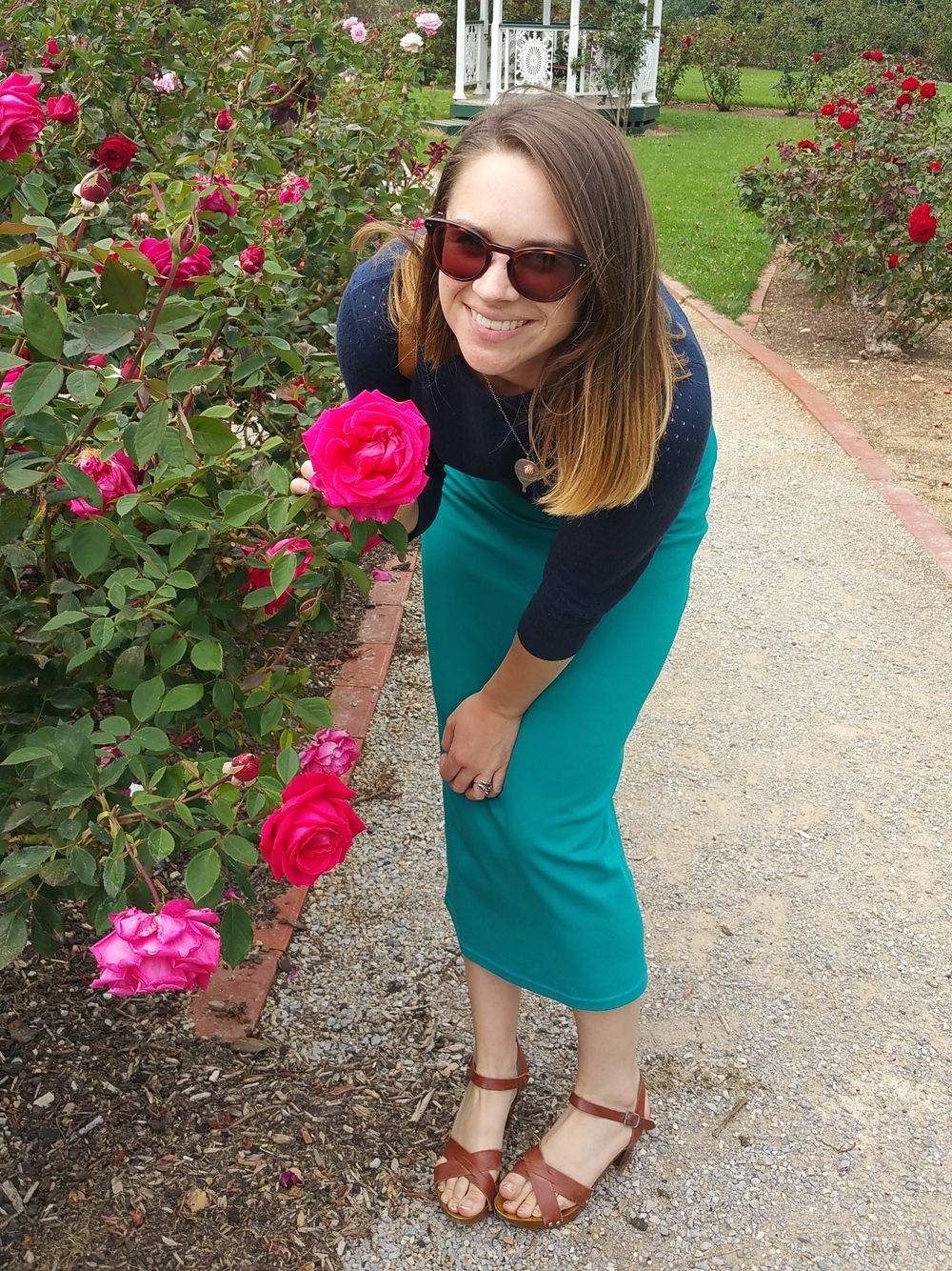 teal-skirt-rose-garden-werribee-asos-clogs