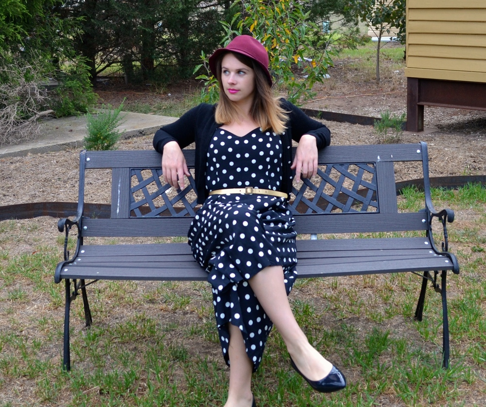 polka-dot-one-piece-gold-belt