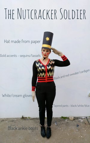 Diy convert a maxi skirt to a pleated mini skirt blue umbrella lane oct 30 2016 halloween costume a nutcracker soldier with diy hat solutioingenieria Images