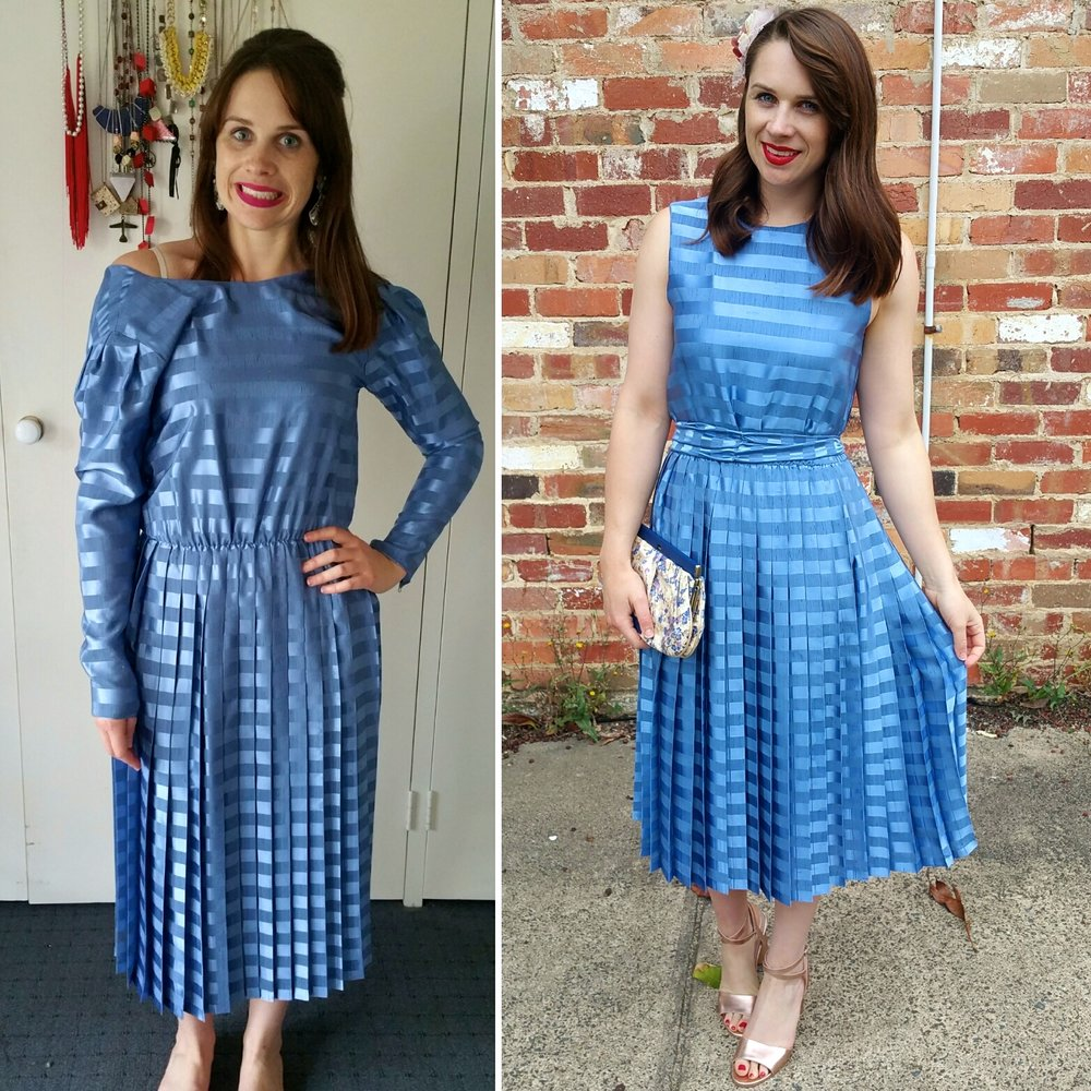 transforming-blue-pleated-dress