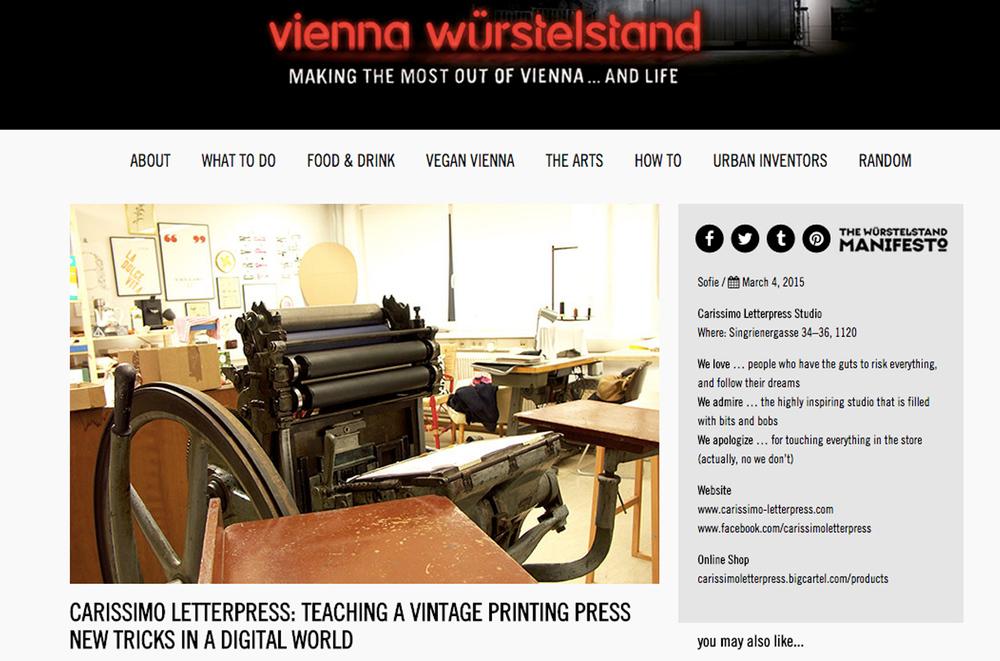 Letterpress printing Vienna