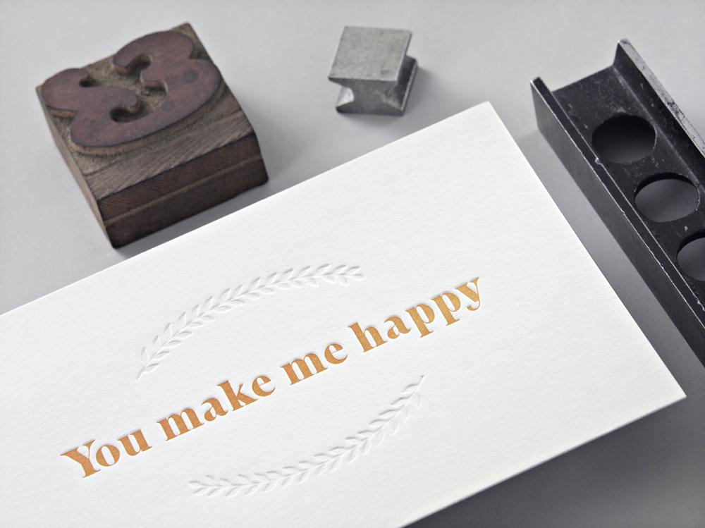 Letterpress Grußkarte