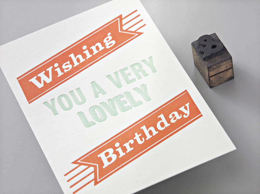 Letterpress Geburtstagskarte
