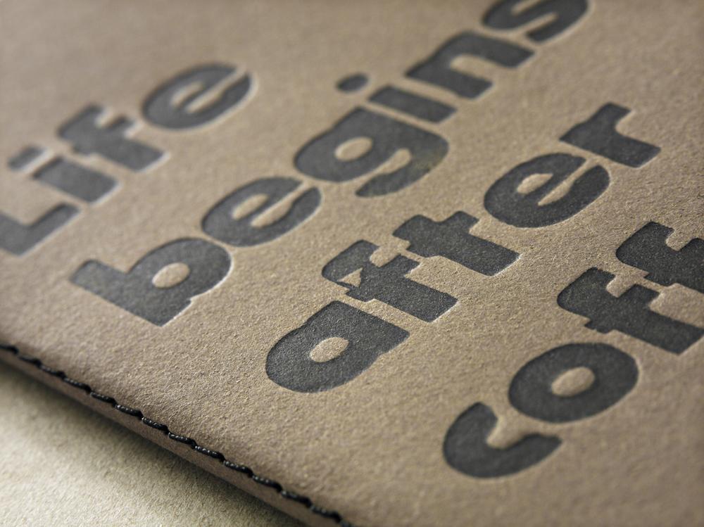 Letterpress Notizbuch gedruckt mit Holzschrift