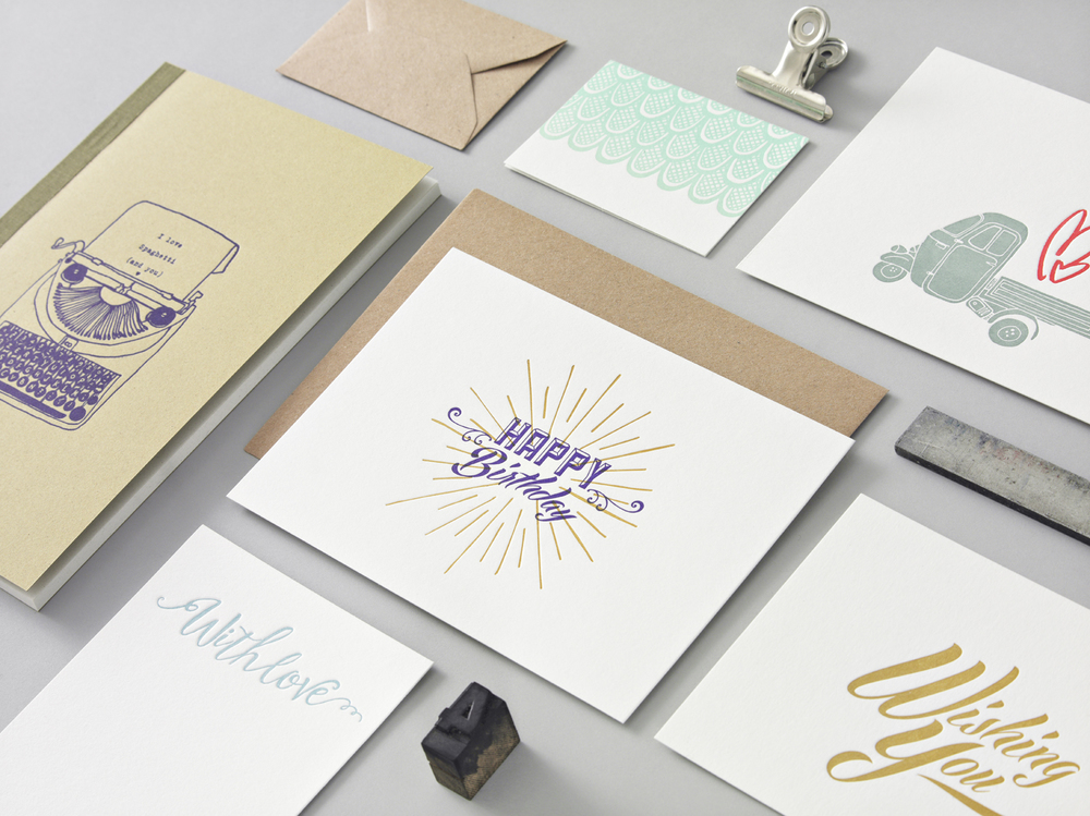 Letterpress Papeterie Kollektion