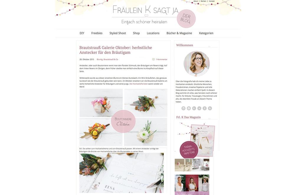Fr�ulein K sagt Ja Blog mit Carissimo Letterpress
