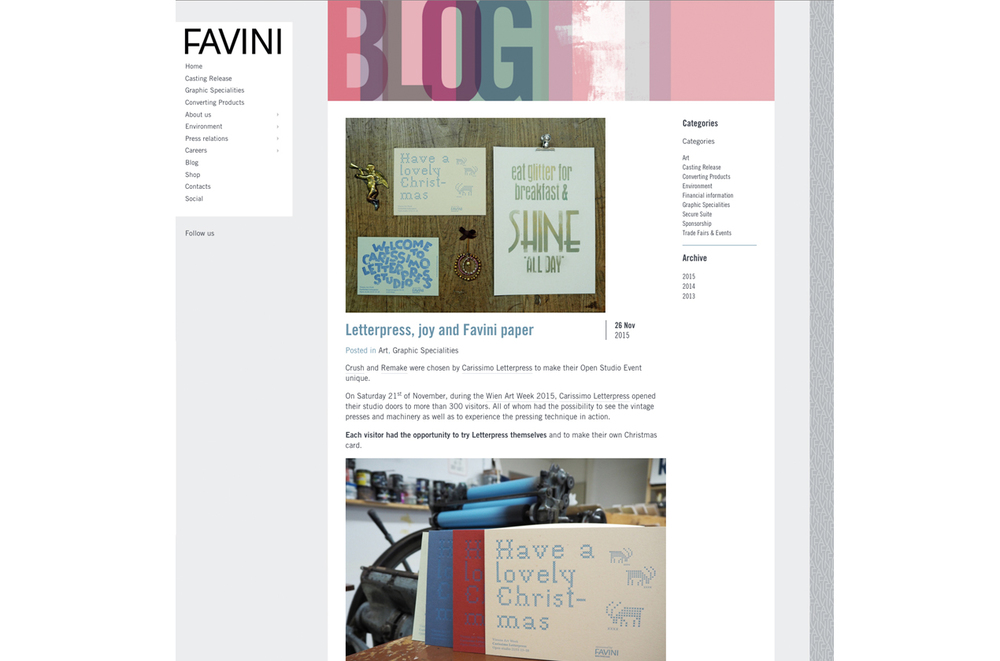 Favini Blog about Crush & Remake papers