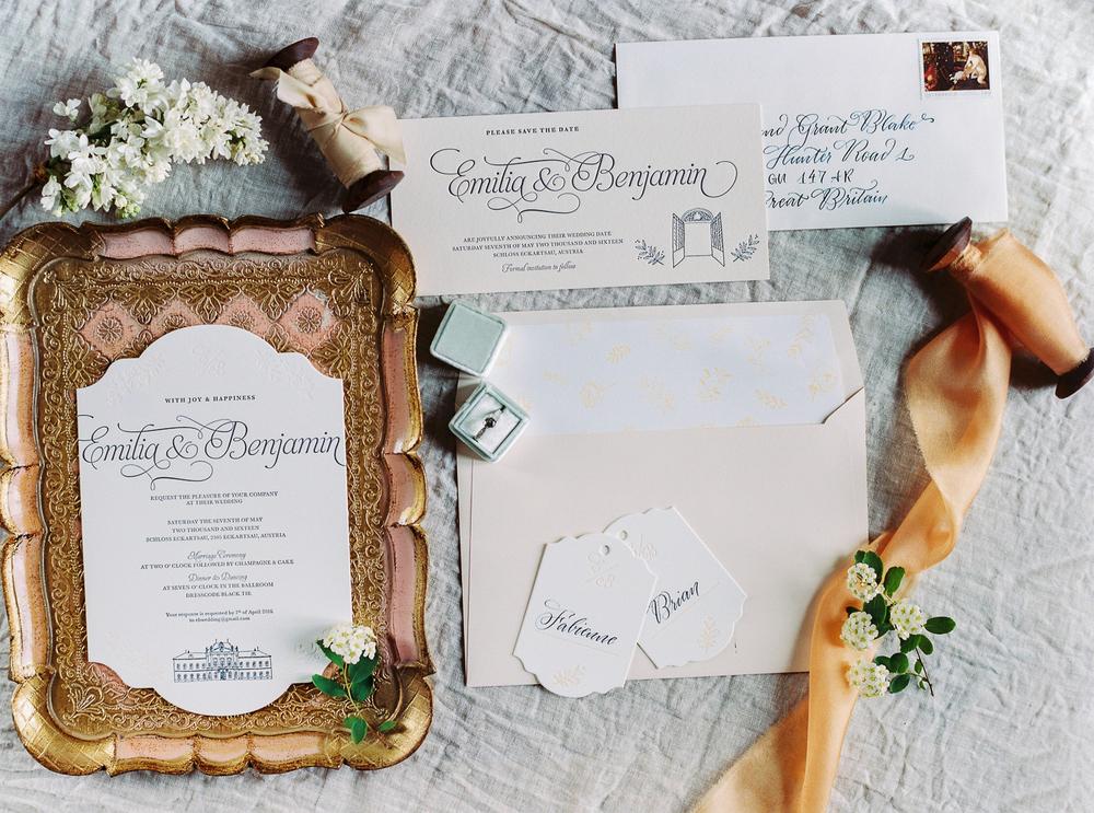 Hochzeitspapeterie Schloß Eckartsau