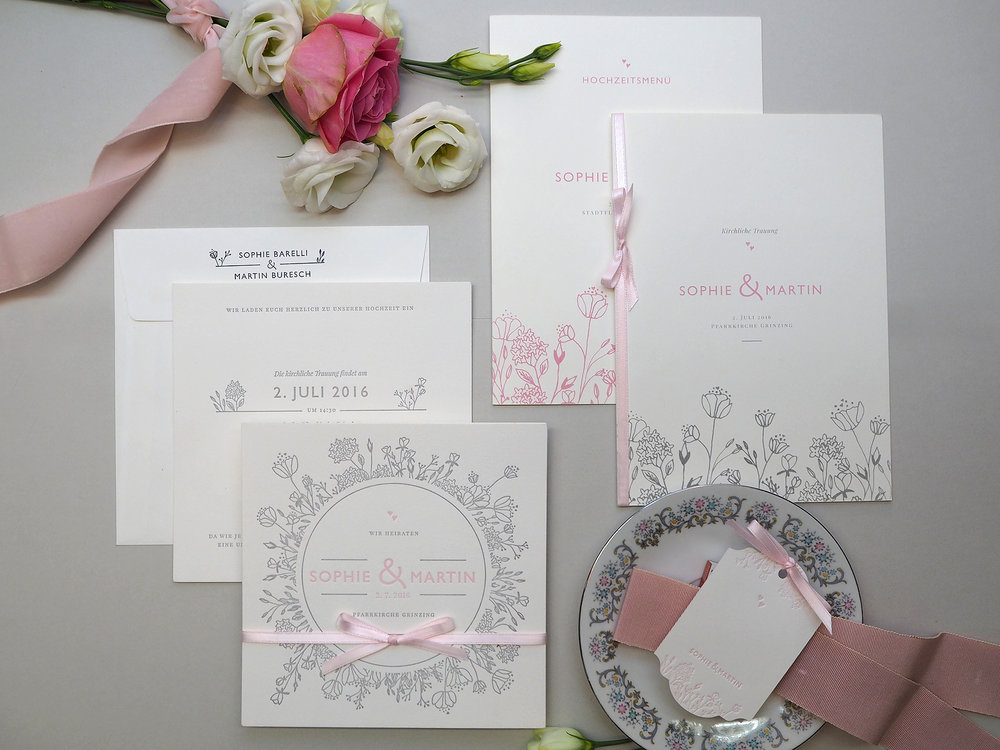Hochzeitseinladung, Siegel, save the date, Dankeskarte, Kirchenprogramm