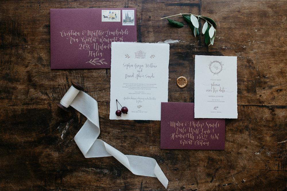 Letterpress Hochzeitseinladung