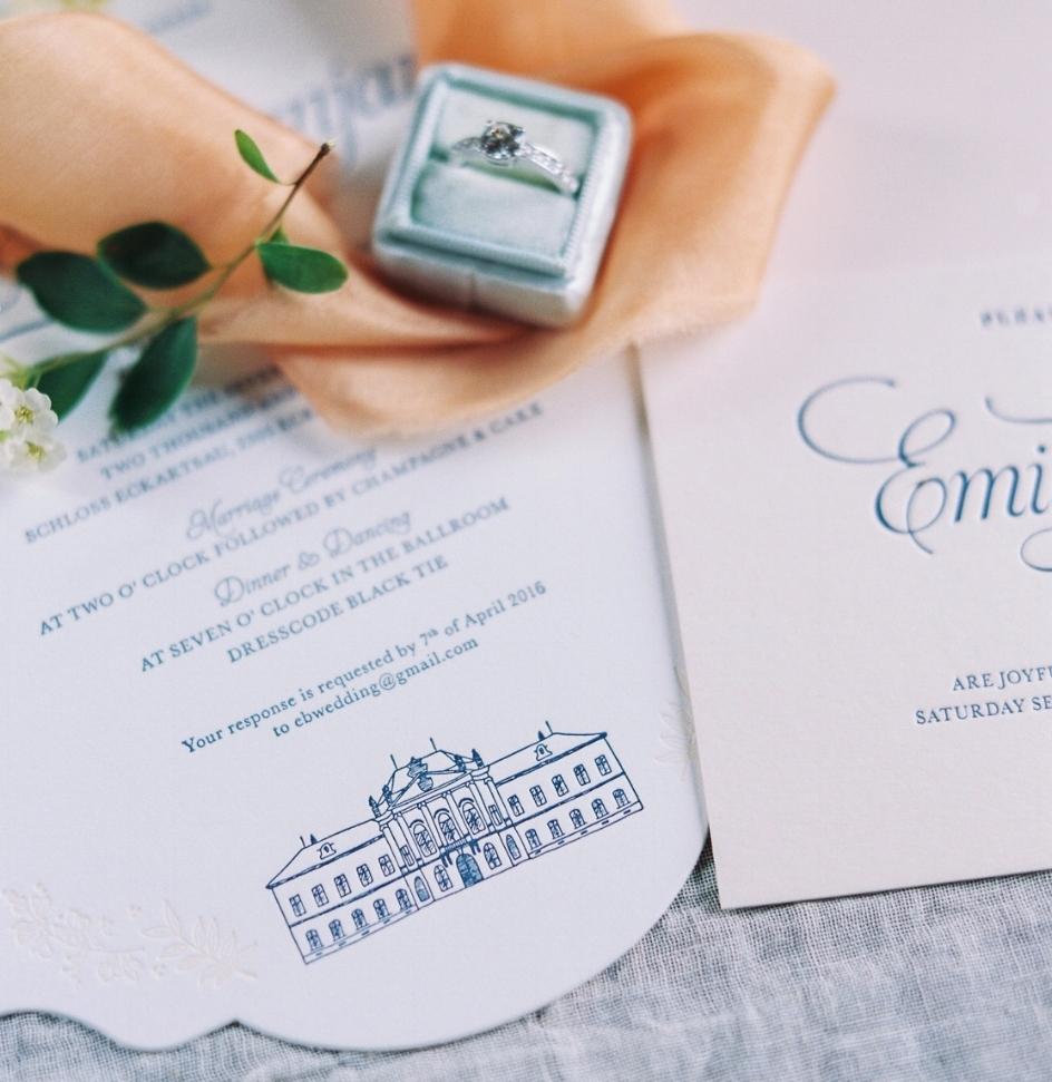 Hochzeitseinladung gestanzt
