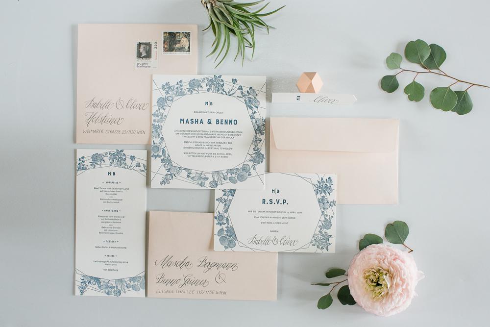 Hochzeitseinladung, Menükarte,Rsvp