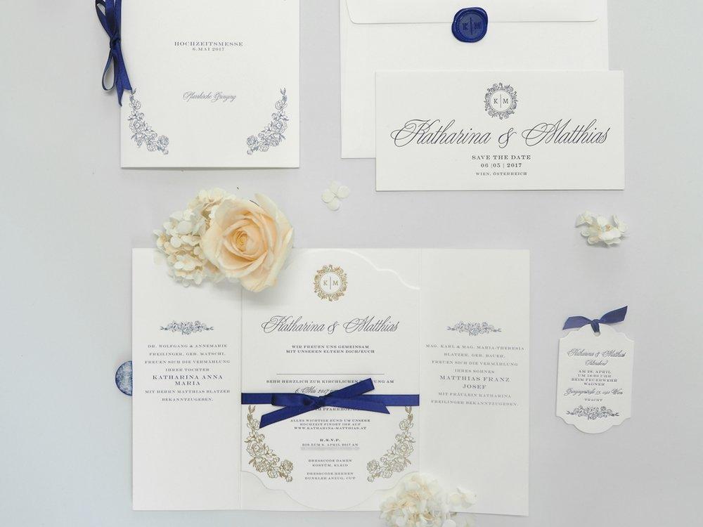 Letterpress Hochzeitseinladung Wien
