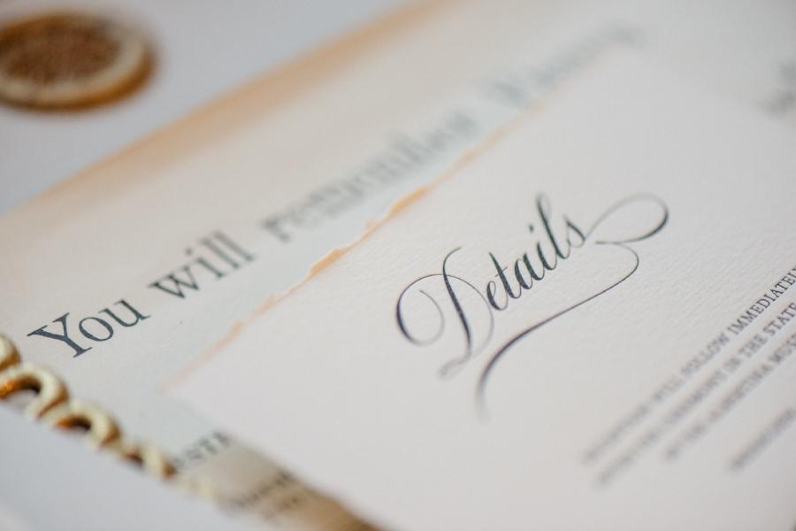 Detailkarte im Letterpress Druck