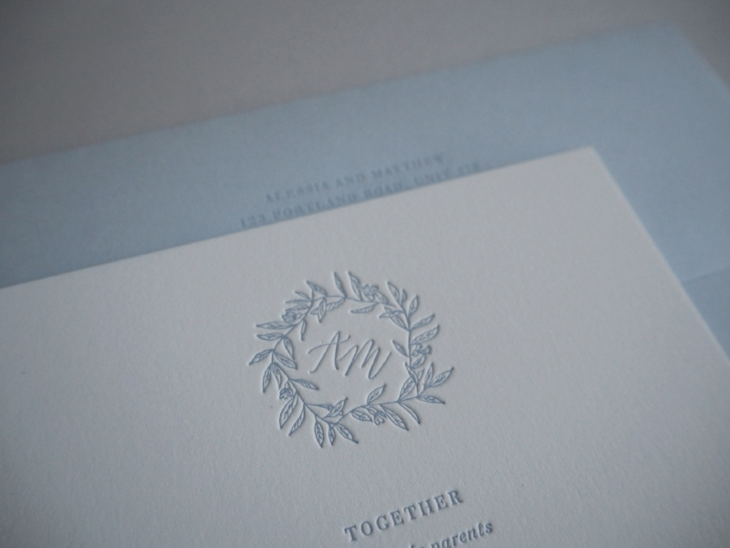 Semi Custom Suite Heritage in Letterpress