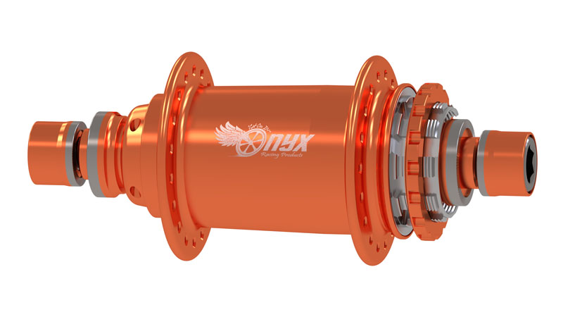 A magnificent BMX rear hub in retina popping orange. Get a matching front and hit the road!